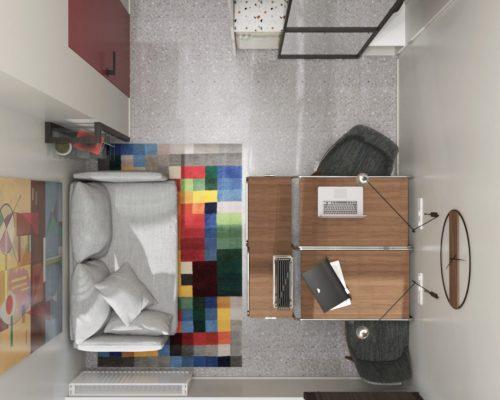 Ofiso vaizdas iš viršaus